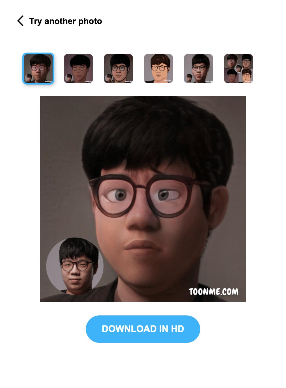 ToonMe มาสร้างใบหน้าคุณให้เป็นการ์ตูนด้วยระบบ AI 3