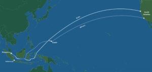 จากสิงคโปร์ปลายทางสหรัฐฯ Facebook ได้ประกาศการวางสายเคเบิลใต้ทะเล