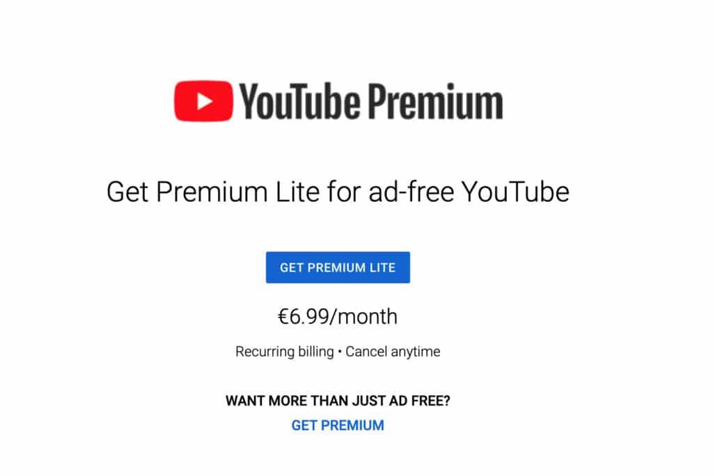 YouTube Premium Lite หั่นโฆษณาถูกลงเกือบครึ่ง